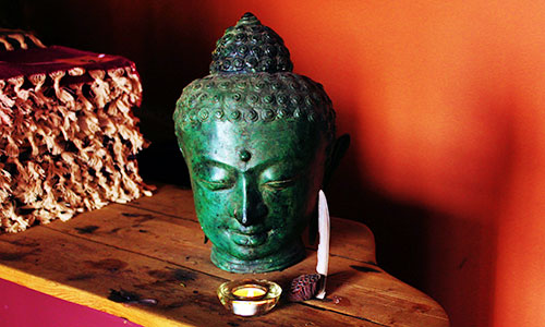 Bust of Buddha at Ashtanga Yoga Centre of Melbourne